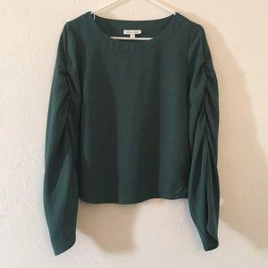 Target Prologue Emerald Green Long Sleeved Blouse